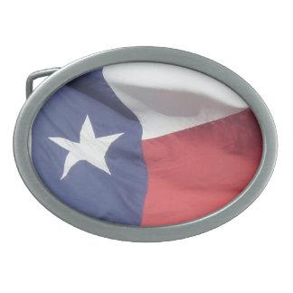 テキサス州の旗 卵形バックル