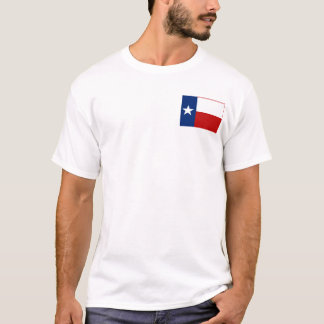 テキサス州の旗 + 地図のTシャツ Tシャツ