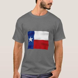 テキサス州の旗-基本的な暗いTシャツ Tシャツ