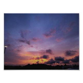テキサス州の日没のファインアートの写真のプリント フォトプリント