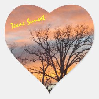 テキサス州の日没 ハートシール