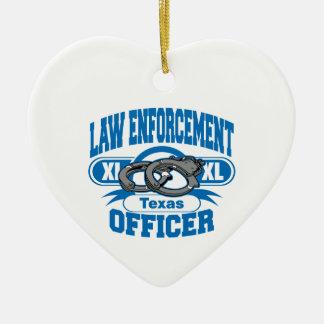 テキサス州の法執行官の手錠 セラミックオーナメント