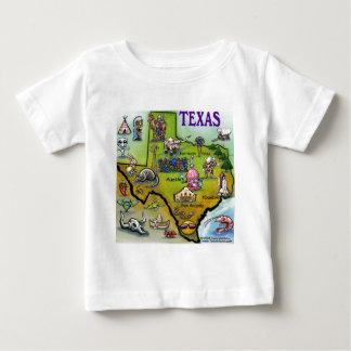 テキサス州の漫画の地図 ベビーTシャツ