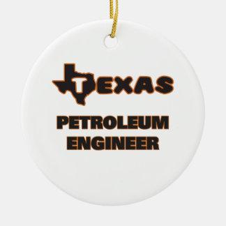 テキサス州の石油エンジニア セラミックオーナメント
