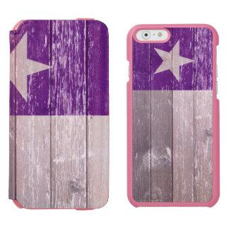 テキサス州の紫色の旗の色彩の鮮やかで古い木 INCIPIO WATSON™ iPhone 6 ウォレットケース