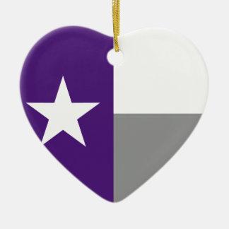 テキサス州の紫色の旗 セラミックオーナメント