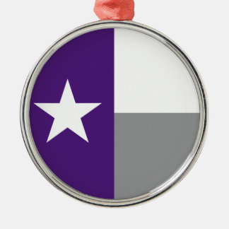 テキサス州の紫色の旗 メタルオーナメント