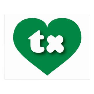 テキサス州の緑のハート-小型愛 ポストカード