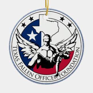 テキサス州の落ちたな役人の基礎 セラミックオーナメント