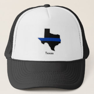 テキサス州の薄いブルーライントラック運転手の帽子 キャップ