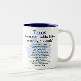 テキサス州の記号及び地図 ツートーンマグカップ