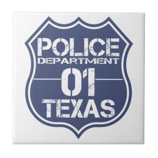 テキサス州の警察の盾01 タイル