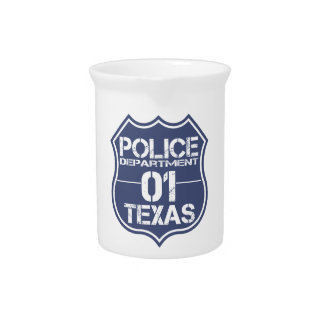 テキサス州の警察の盾01 ピッチャー