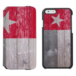 テキサス州の赤い旗の色彩の鮮やかで古い木 INCIPIO WATSON™ iPhone 5 財布型ケース