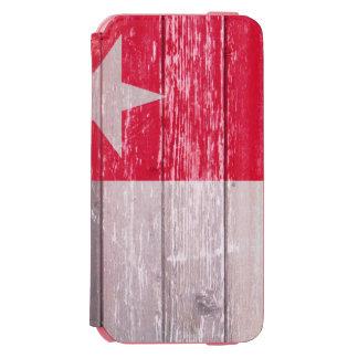テキサス州の赤い旗の色彩の鮮やかで古い木 INCIPIO WATSON™ iPhone 6 ウォレットケース