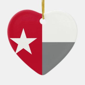 テキサス州の赤い旗 セラミックオーナメント