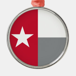 テキサス州の赤い旗 メタルオーナメント