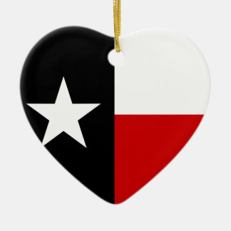 テキサス州の赤くおよび黒い旗 セラミックオーナメント