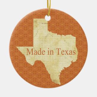 テキサス州の赤ん坊の第1クリスマスの写真のオーナメントで作られる セラミックオーナメント