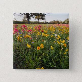 テキサス州の路傍の野生の花、春 5.1CM 正方形バッジ