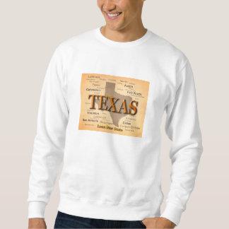 テキサス州の都市および町の州のプライドの地図 スウェットシャツ
