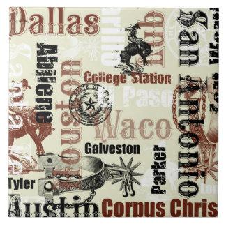 テキサス州の都市、Broncsおよび拍車 タイル