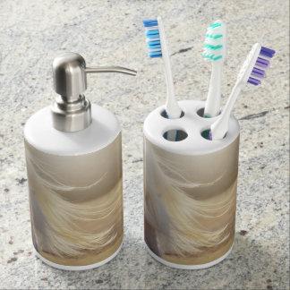 テキサス州の金ゴールドの浴室セット 歯ブラシホルダー