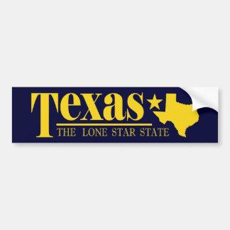テキサス州の金ゴールド バンパーステッカー