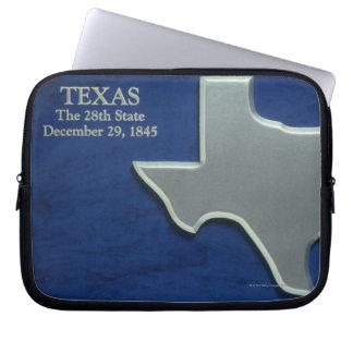 テキサス州の銀製の地図 ラップトップスリーブ