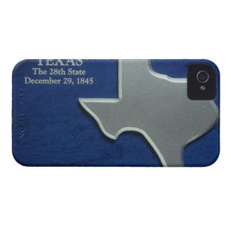 テキサス州の銀製の地図 iPhone 4 ケース