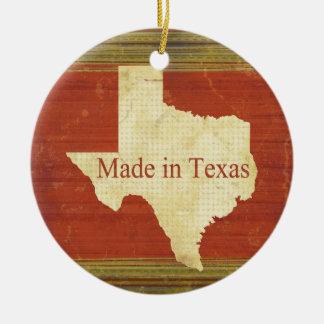 テキサス州の錆ついた赤のストライプで作られる セラミックオーナメント