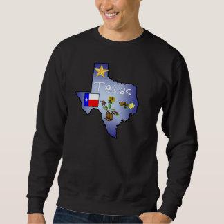テキサス州の長袖のワイシャツ スウェットシャツ