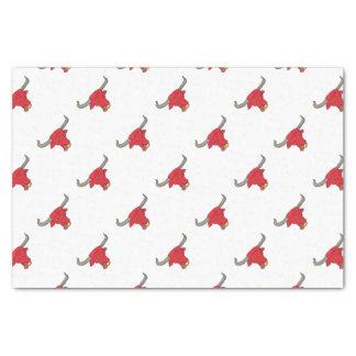 テキサス州の長角牛の赤いBullのスケッチ 薄葉紙