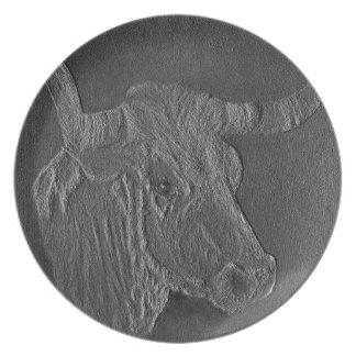 テキサス州の長角牛3 プレート