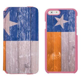 テキサス州の青およびオレンジ旗の色彩の鮮やかで古い木 INCIPIO WATSON™ iPhone 6 ウォレットケース