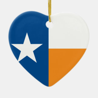 テキサス州の青およびオレンジ旗 セラミックオーナメント