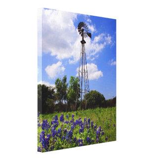 テキサス州の風車 キャンバスプリント