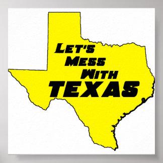 テキサス州の黄色いポスター ポスター