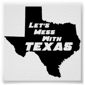 テキサス州の黒いポスター ポスター