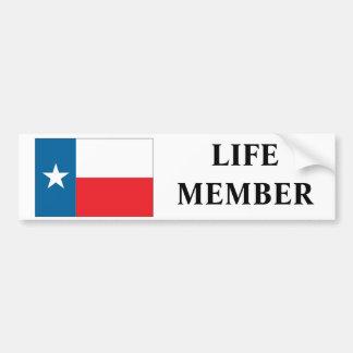 """テキサス州の""""生命メンバー""""のバンパーステッカー バンパーステッカー"""