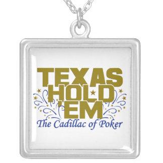 テキサス州はそれらをネックレス握ります シルバープレートネックレス