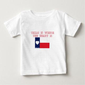 テキサス州はハートがあるところにです ベビーTシャツ