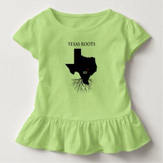 テキサス州は小さな女の子を応援します トドラーTシャツ