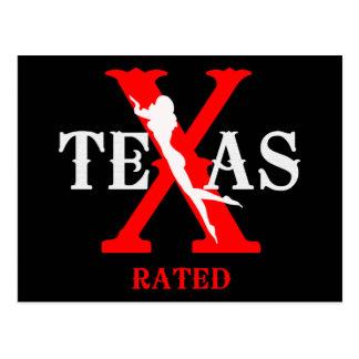 テキサス州は- 18歳未満お断りを評価しました ポストカード