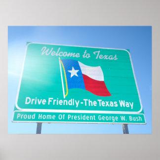 テキサス州への歓迎! ポスター