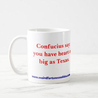 テキサス州サイズのハート(マグ) コーヒーマグカップ