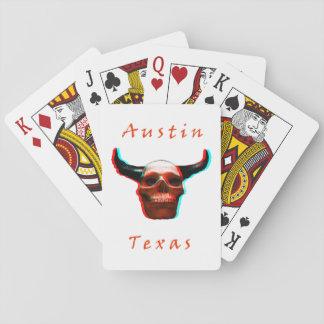 テキサス州ハロウィン3Dの長角牛スカルのトランプ トランプ