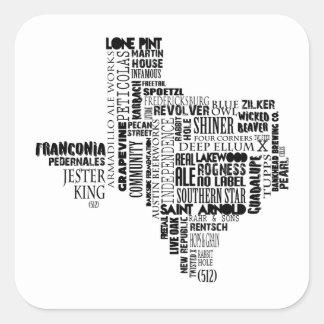 テキサス州ビール恋人のステッカー スクエアシール