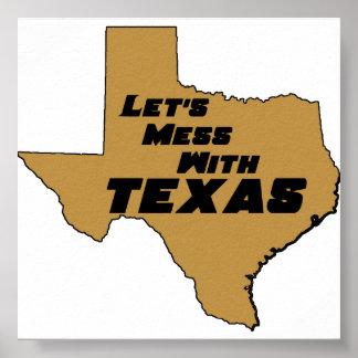 テキサス州ブラウンポスター ポスター