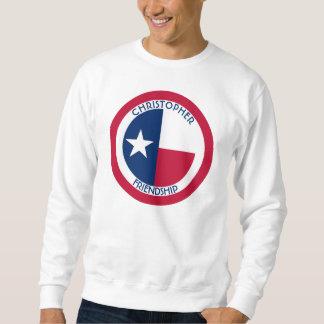 テキサス州単独星の名前入りな旗 スウェットシャツ